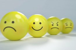 emotional faces painted on balls