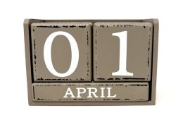 This is a calendar showing the date April 1