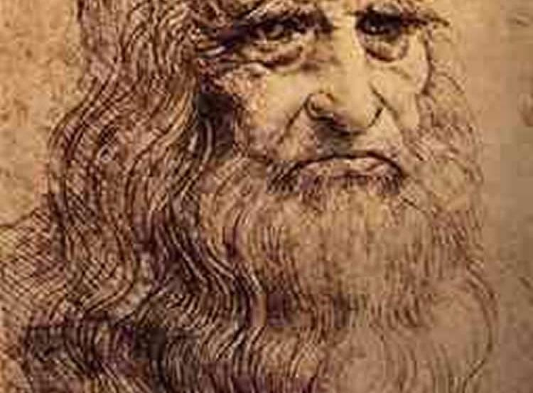 This is a self portrait of da Vinci