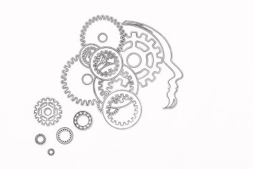 This shows a brain and gears