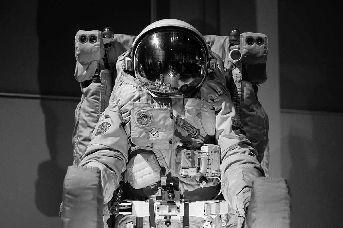 This shows a space suit