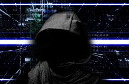 This shows a kid in a hoodie surrounded by binary code