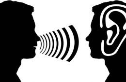 This shows a person talking and an ear