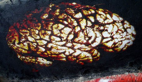 Painting of a brain
