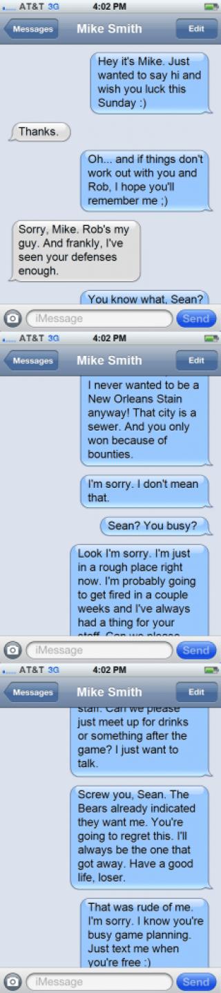 Mike Smith to Sean Payton Texts