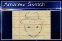 Amateur sketch of the Mobile Leprechaun based off eye-witness accounts.