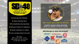 New Orleans Saints coach Sean Payton's SD-40