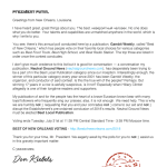 Neutral Ground News Letter to Russian President Vladimir Putin Best of New Orleans voting