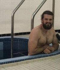 Thomas Morstead New Orleans Saints locker room hot tub