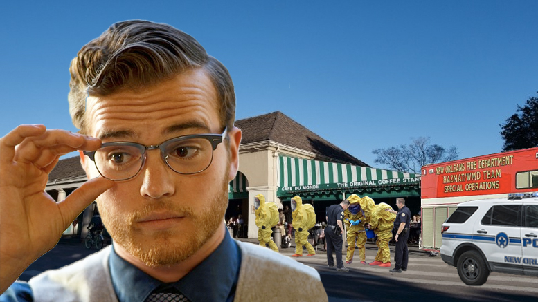 Tourist triggers hazmat response at Cafe du Monde over suspicious white powder
