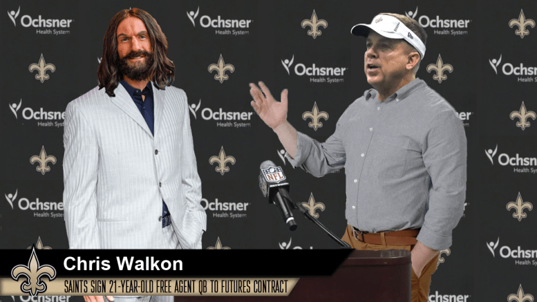 New Orleans Saints sign scary-good quarterback Chris Walkon to futures contract