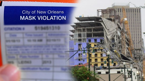 Workers trapped in Hard Rock hotel collapse cited by City for not wearing masks