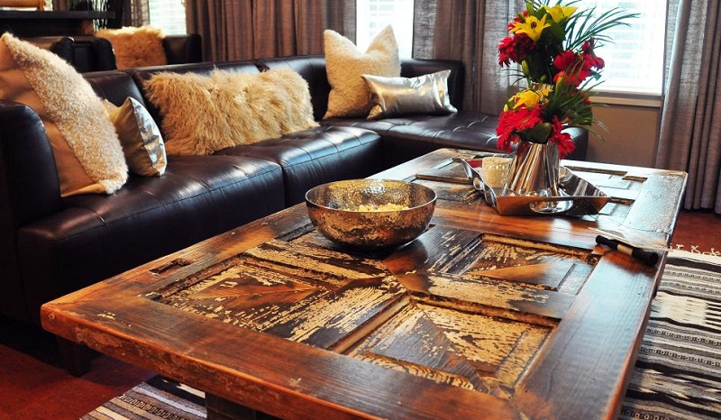 repurpose your old furniture to match your modern living room