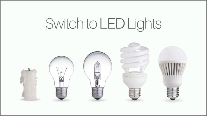 Upgrade to LED lighting