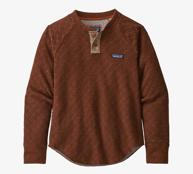 Wool Blend Diamond Quilt Henley - Patagonia