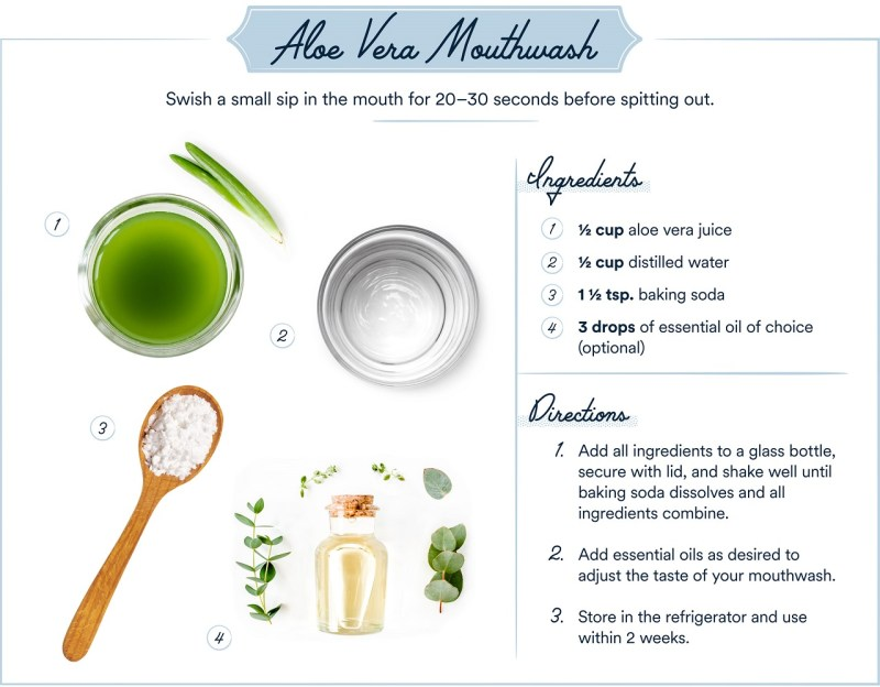 DIY mouthwash recipe - Aloe Vera