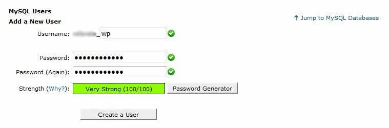 cpanel database username neutron dev