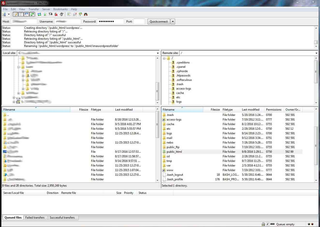 filezilla ftp public_html neutron dev