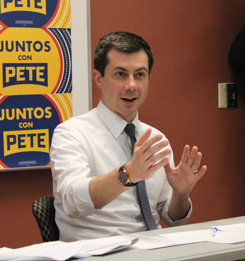 Buttigieg Announces Immigration Policy Following Las Vegas Meeting With Latinos.