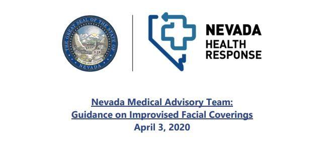 Nevada Advisory On Face Masks