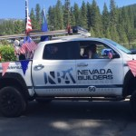 Nevada Builders Mascot on the Forth of july