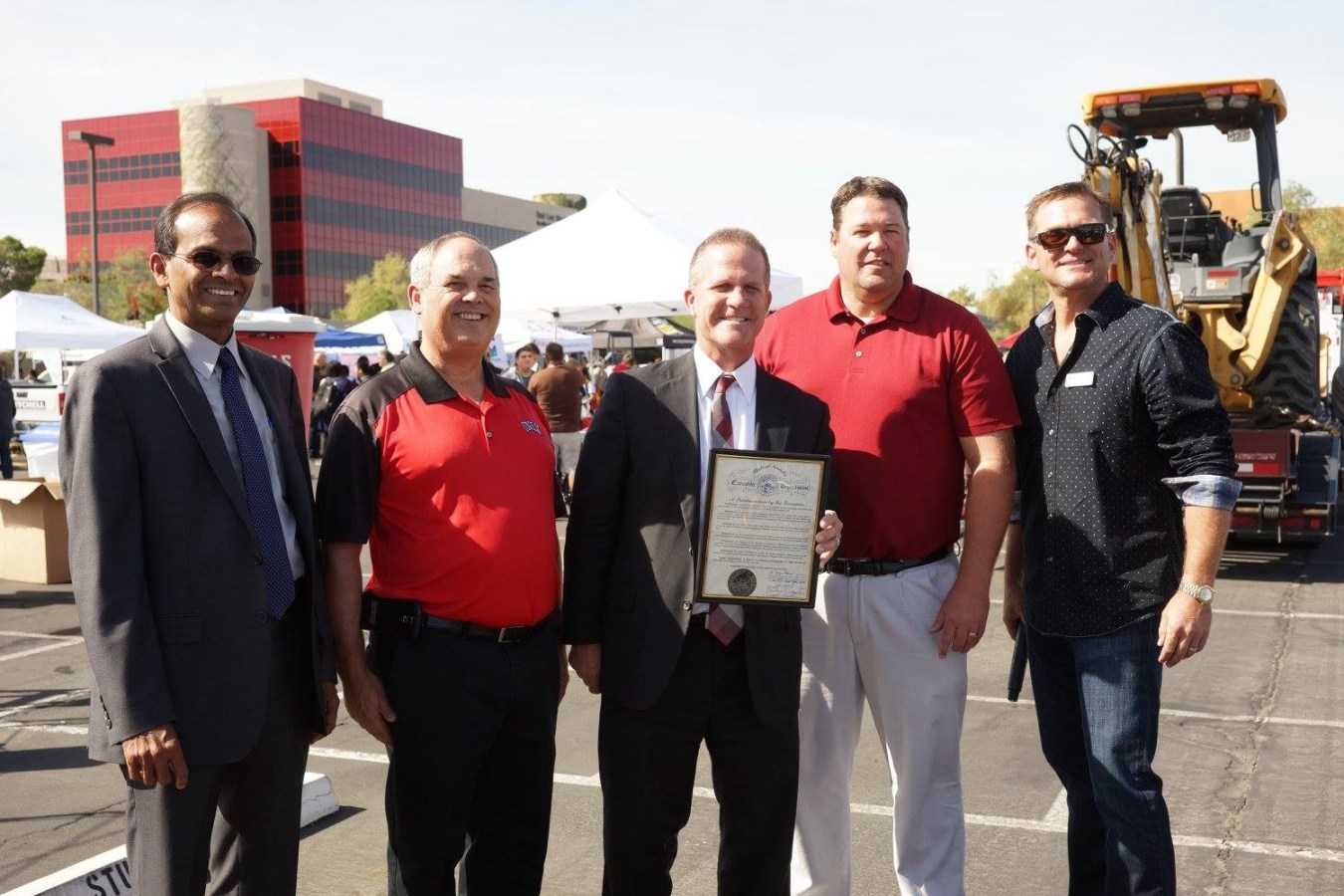 Lt Gov-Aaron and UNLV dignitaries at CCD LV