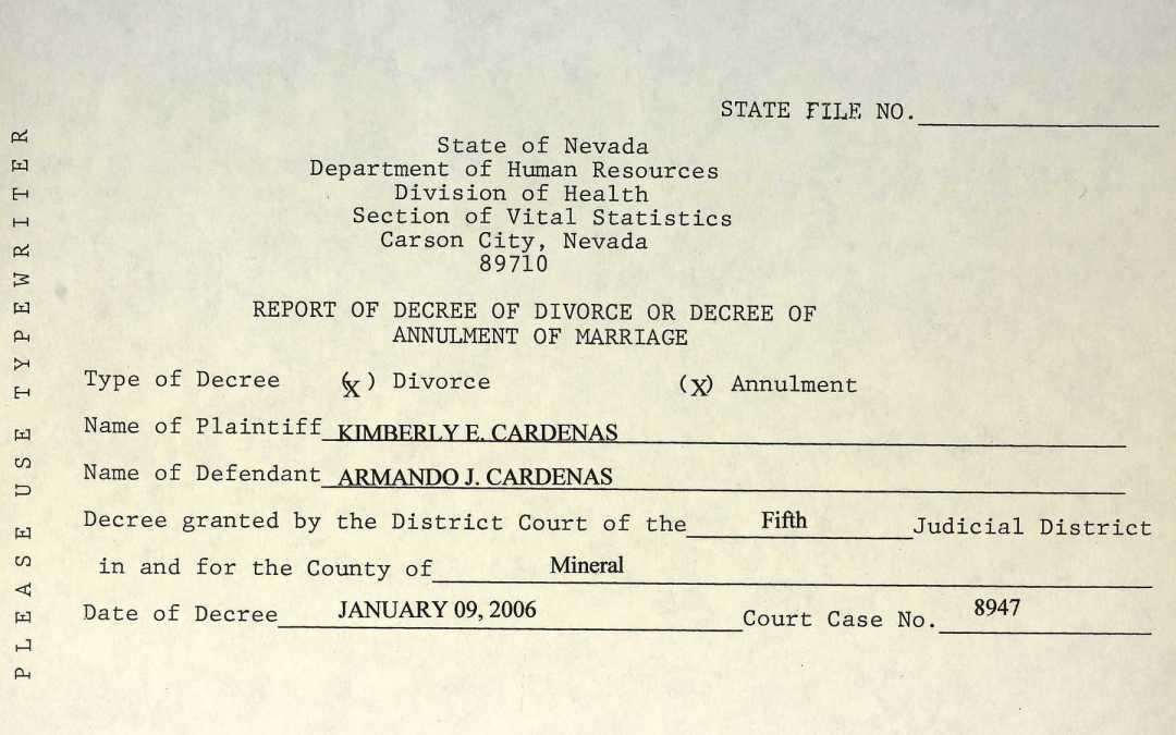 Nevada Divorce Records