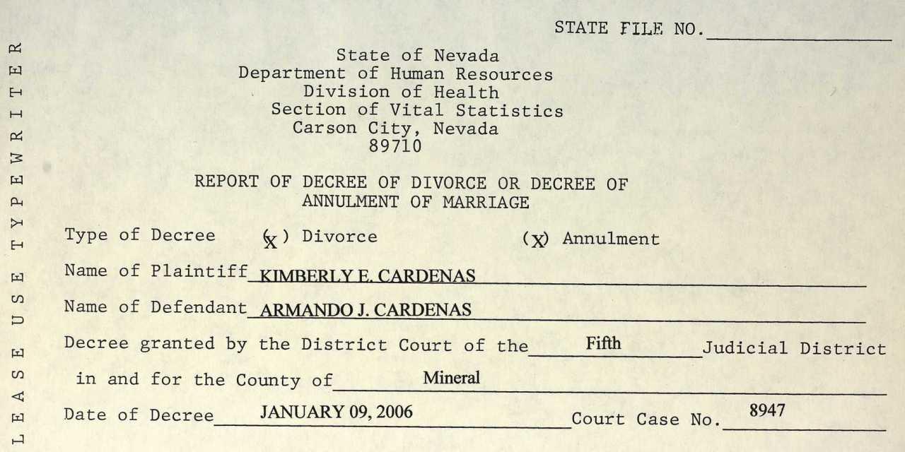 Nevada Divorce Records Nevada Genealogy