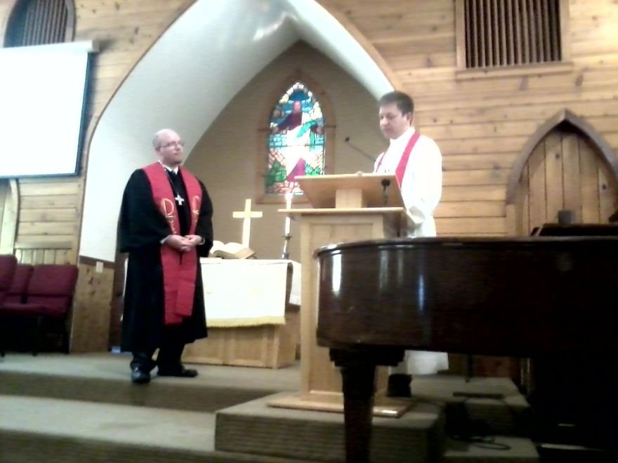 Reverend Valadez receiving charge at South Lake Tahoe