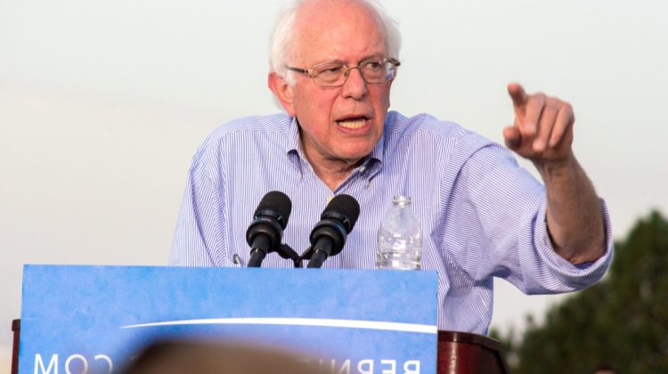 Breanna Denney/Nevada Sagebrush Sen. Bernie Sanders, I-Vt., speaks before a crowd around 4,500 during a campaign rally at the University of Nevada, Reno, on Tuesday, Aug. 18. Though Sanders began his campaign in anonymity, he has quickly risen to be the only viable challenge to Democratic favorite Hillary Clinton in the 2016 presidential race.