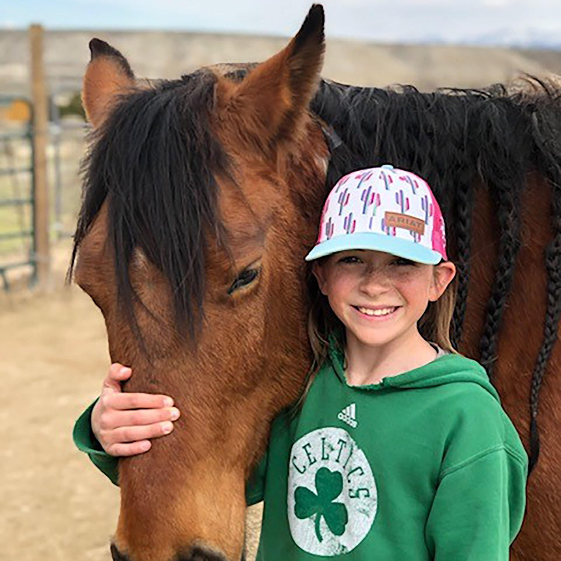 4-H student with horse
