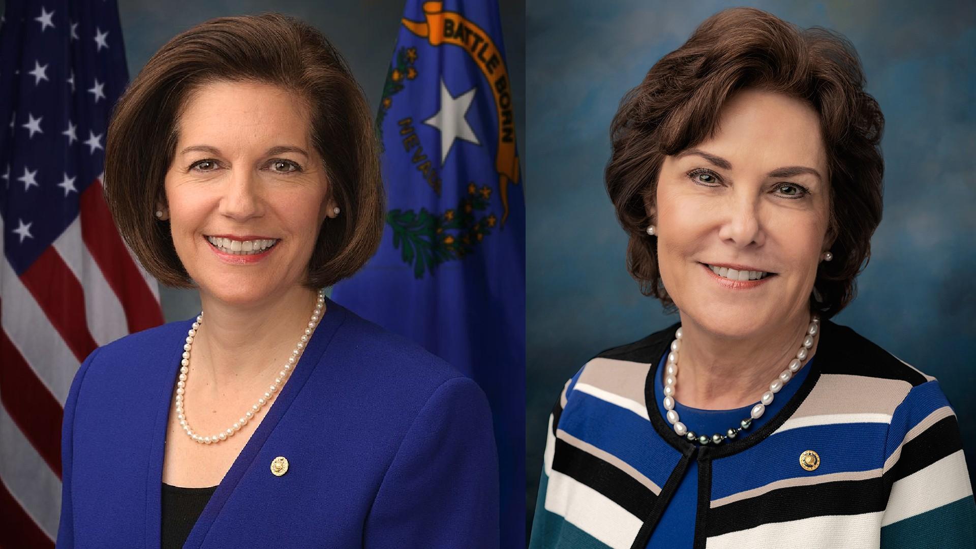U.S. Senators Catherine Cortez Masto and Jacky Rosen.