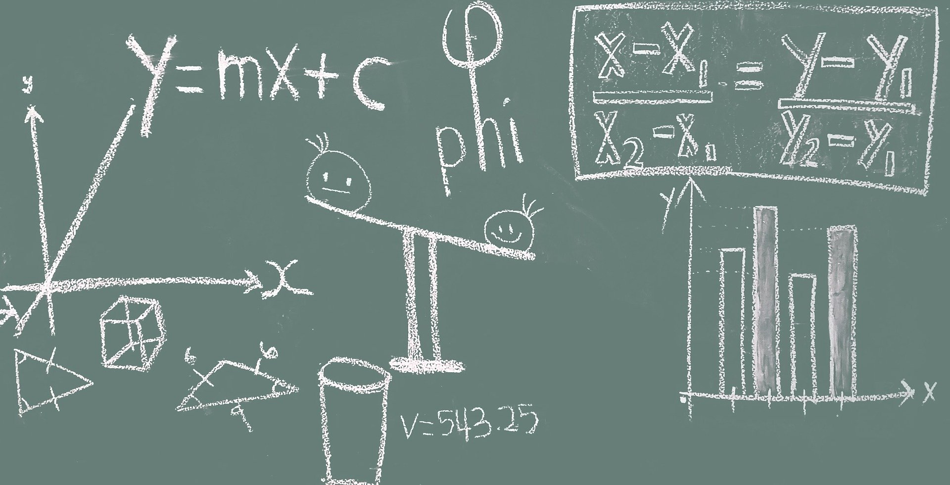 math on a blackboard