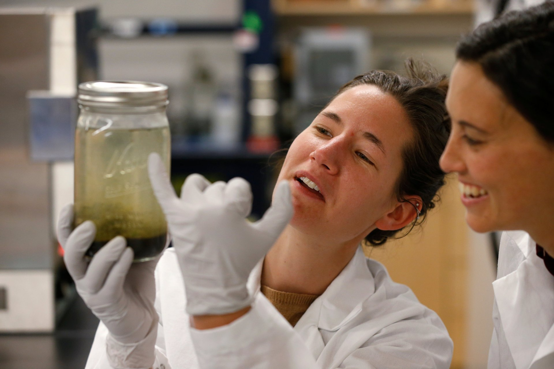 Dr. Zoe Harrold and Dr. Monica Arienzo work at the Desert Research Institute, in Reno, Nev., on Wednesday, May 15, 2019. Photo by Cathleen Allison/Nevada Momentum