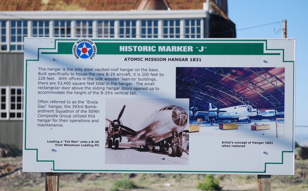 Atomic mission hangar 1831 is being restored at the Wendover Air Field.