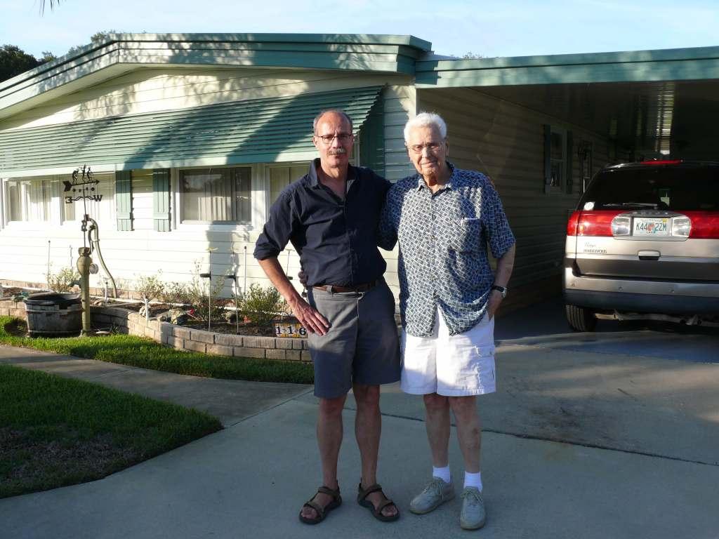 Mark Meganck (l) and Bobby Higgins in 2013.