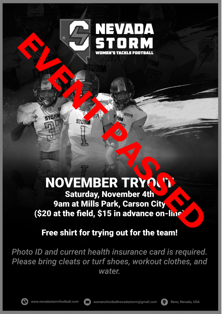 Past Event: Nevada Storm Tryout!
