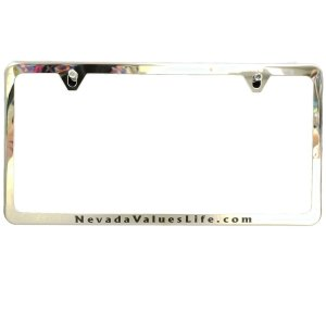 thin metallic-like license plate frame