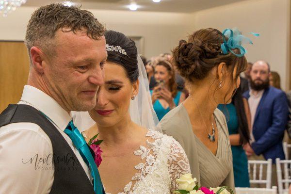 bride meets groom isle photograph wedding day