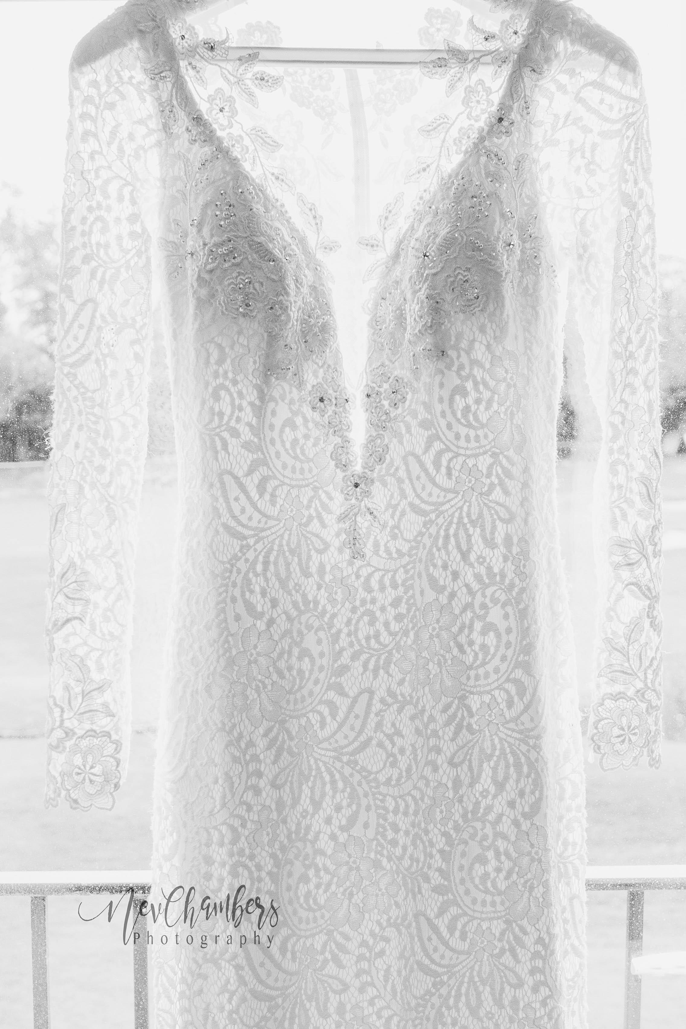 lace, wedding, dress, Ramside, Hall, wedding Photographer