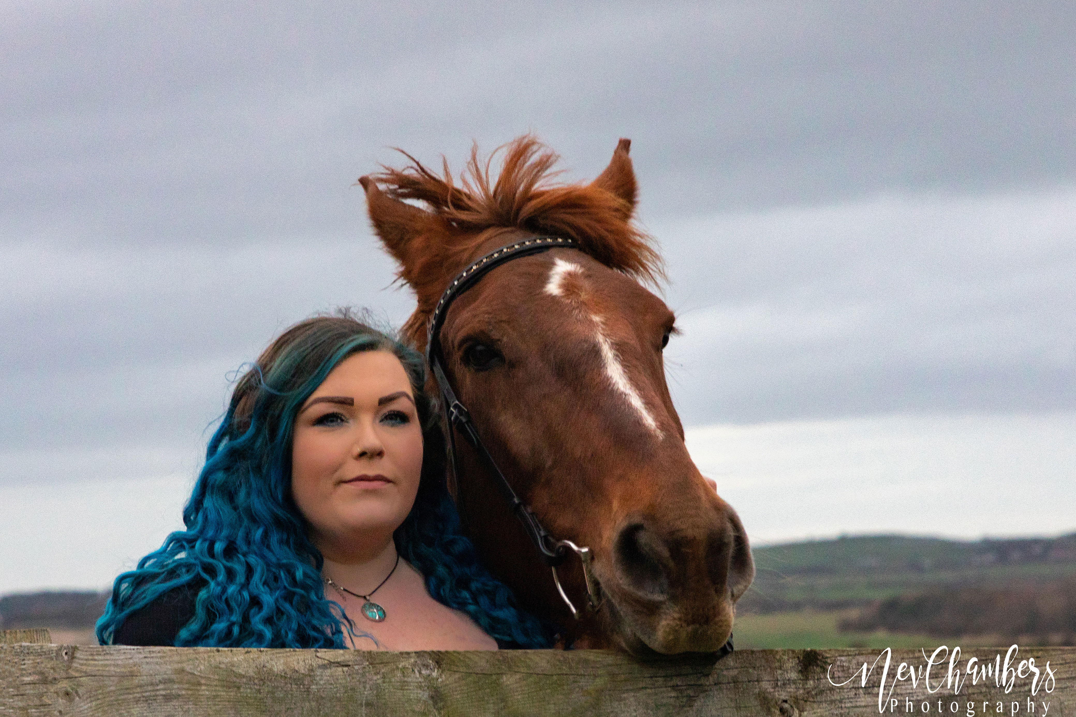Equine photoshoot rider and horse together North Yorkshire
