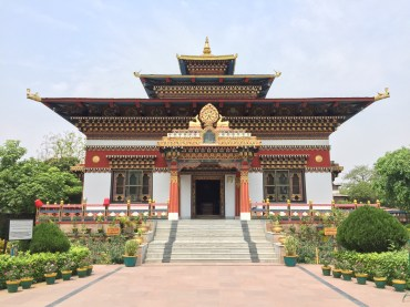 The colourful Bhutanese temple