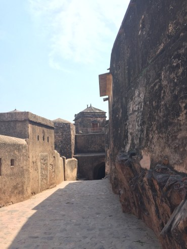 The ancient streets of the living Ranthambore fort.
