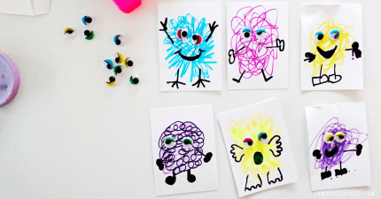 Scribble monster art |rowdyrascalkids.com