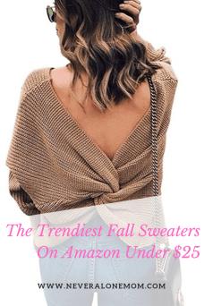 Fall sweaters on Amazon |neveralonemom.com