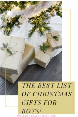 Christmas gifts for boys! |neveralonemom.com