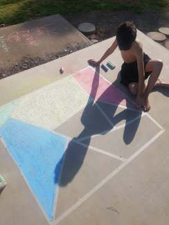 Chalk mosaic step 2 |neveralonemom.com