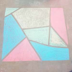 Chalk mosaic finished |neveralonemom.com