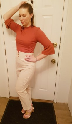 Shein high waisted pants |neveralonemom.com