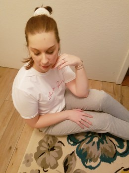 Femme Luxe grey joggers |neveralonemom.com